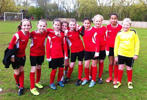 1 web Girls football team