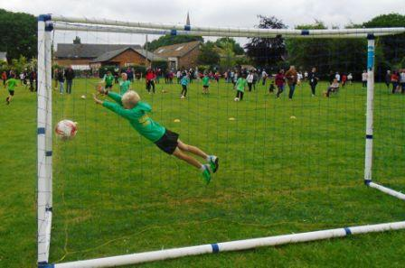 1 web KS2 Sports Day football goal